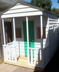 Cubby House Colours -  Woodland Grey Roof with Weatherboards