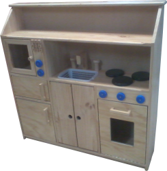 Cubby/Home Corner -  Complete Kitchen with Microwave