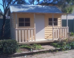Cubby House Colours -  Extra Large Cubby House/Retreat - with weatherboards