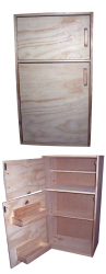 Cubby/Home Corner -  Wooden 2 Door Fridge and Freezer