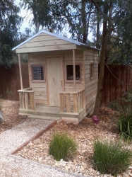 Cubby House Colours -  Zinc Roof and finished raw