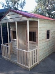 Cubby House Colours -  Heritage Red Roof and finished raw